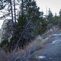 The trail is a relatively easy walk up a gradual incline to the edge of Cave Rock.- Cave Rock Trail