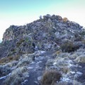 Upon reaching the rock, the option to scramble up the rock leads to the top.- Cave Rock Trail