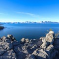 Epic panoramic views from the peak.- Cave Rock Trail