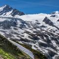 Aiguille du Chardonnet in the distance.- Aiguille du Tour, East Face