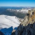 The view from the summit of Aiguille du Tour.- Aiguille du Tour, East Face