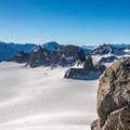 Looking toward Trient Glacier.- Aiguille du Tour, East Face