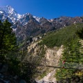 Past Chame, the views of Annapurna II are intense!- Annapurna Circuit