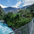 The Marsyangdi River threads its way across the Annapurna Circuit for about 100 miles until Thorong La Pass.- Annapurna Circuit