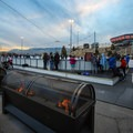 Several fireplaces offer skaters and observers the chance to warm up throughout the chilly sessions.- Ice Rink at the Grand Sierra Resort