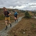 Gravel paths at the start are very well established close to the resort.- Healy Pass via Sunshine Meadows
