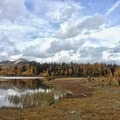 Alpine lakes and beautiful sky near Healy Pass.- Healy Pass via Sunshine Meadows
