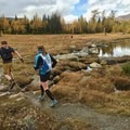 Crossing beautiful streams and alpine lakes.- Healy Pass via Sunshine Meadows