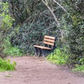 There are several places on Annie's Canyon Trail to rest and enjoy the view of San Elijo Lagoon along the way.- Annie's Canyon Trail via North Rios Trail
