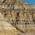 Water runoff creates the amazing textures of these badlands. Caprock Coulee Trail.- Caprock Coulee Trail