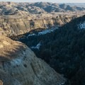 On top of ridges, the landscape opens up. Caprock Coulee Trail.- Caprock Coulee Trail