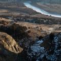 Drainage into the Little Missouri River. Caprock Coulee Trail.- Caprock Coulee Trail