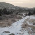 Winter clouds hide the morning sun on the Maah Daah Hey Trail.- Bennett-Cottonwood Loop via Maah Daah Hey Trail