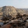 Climbing to the top brings bigger views of the badlands.- Bennett-Cottonwood Loop via Maah Daah Hey Trail