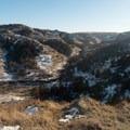 Looking back up the Cottonwood Creek Trail.- Bennett-Cottonwood Loop via Maah Daah Hey Trail