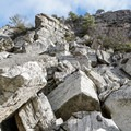 Looking up the crag trail.- Bonticou Crag and Table Rocks