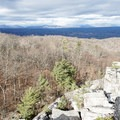 The first views of the Catskill Mountains.- Bonticou Crag and Table Rocks