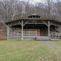 The Slingerland Pavillion is a great place to rest and enjoy the view.- Bonticou Crag and Table Rocks