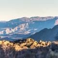 The golden hour at Culp Valley.- Culp Valley Loop