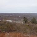 View looking north on the North/South Loop Hike.- North/South Loop