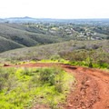 The trail descends to the waterfall via a series of switchbacks.- Copper Creek Trail via Whiptail Trail