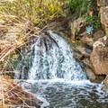 Copper Creek Falls after heavy rainfall.- Copper Creek Trail via Whiptail Trail