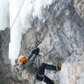 This reach-y route goes at M7.- Bear Spirit Ice Crag