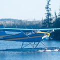 Hawk Air offers fly-in options to the lodge as well as primitive campsites to drop off and pick up at later dates.- Lake Esnagi Fishing Lodge