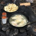 The lodge provides a shore lunch, but you have to catch your protein source. Walleye, pike, whitefish, and perch are all plentiful.- Lake Esnagi Fishing Lodge
