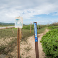 The property line for the James Campbell National Wildlife Refuge is well-marked. Do not cross the fence into private property!- Kahuku Shoreline