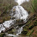 High Falls weaves its dazzling web of whitewater.- Beech Creek Loop Trail to Big Scaly Mountain