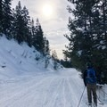 The first (and last) 1.25 miles is on a snowmobile road.- Brundage Mountain (Sargeant's Peak)