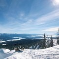 The view southeast from the summit looking down on Payette Lake and Long Valley. Powder hounds appreciate good views, too.- Brundage Mountain (Sargeant's Peak)