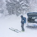 Heavy snow and low visibility are common at Mount Furano.- Mount Furano