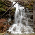 Bear Creek Falls on a rain-soaked day.- Beech Creek Loop Trail to Big Scaly Mountain