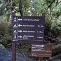 Trail signage. - Sombrio Beach