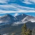 First views of Longs Peak.- Twin Sisters Peak