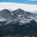 Close-up of Longs Peak from the summit.- Twin Sisters Peak