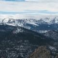 Dramatic peaks around the Bear Lake area.- Twin Sisters Peak