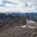 Looking west from the west peak.- Twin Sisters Peak