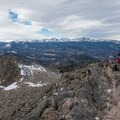 The west peak summit ridge.- Twin Sisters Peak