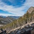 The landslide in the light of day. Twin Sisters Peak.- Twin Sisters Peak