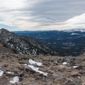 Looking south from the upper saddle.- Twin Sisters Peak