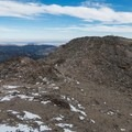 The west summit looking toward the east summit.- Twin Sisters Peak