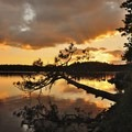 Sunset over Horse Lake.- Mining Endangers Minnesota's Boundary Waters