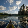 Canoeing along the Horse River.- Mining Endangers Minnesota's Boundary Waters