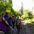 A long but productive day comes to an end.- The Bold Betties: Idaho Trails Association Women's-Only Trail Maintenance
