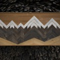 Reclaimed mountain art by Nick Terrel.- Last Minute Gifts for Adventurers