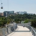 Pedestrian bridge in Portland. Published without modification under CC 2.0.- Preparing the Body for Backpacking
