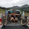 ONE. EPIC. DAY. Riding Molas Pass on the Colorado Trail a wee bit too early. Snow, mud, and hitching made for an awesome day with my favorite riding buddy, Miss Sarah Jean Warren!- Woman In The Wild: Amy Schweim
